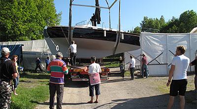 Sjösättning av renoverad Oe 32